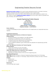 Best Engineering Resume Format Inspirational Resume Templates Doc
