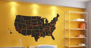 usa map teens decals nice wall decal usa