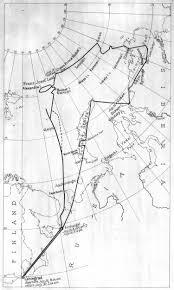 Polar Routes Charts Graf Zeppelins Arctic Flight Polar Flight 1931