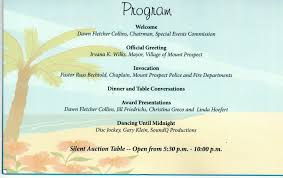 silent auction program template graduation party program template template