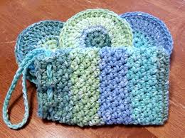 Free Crochet Patterns For Scrubbies Delectable Face Scrubbies And Soap Pouch Spa Set Free Crochet Pattern Same