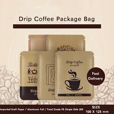 When storing coffee, you should keep it as dry as possible. Open Top Flat Kraft Paper Drip Coffee Packaging Bags Easy Tear Aluminum Coating Al Foil Laminated Heat Food Packaging Gift Bags Wrapping Supplies Aliexpress