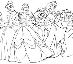 Disney Princess Color Pages All Princess Coloring Pages Disney
