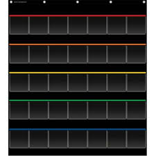 Black Pocket Chart Storage