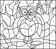 363a92fd8888047671872148c96cf7ac owl printable animal coloring pages car printable color by number page hard color by number for on color by number spanish coloring page