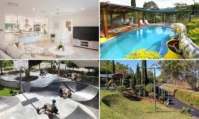Backyard Skatepark Designs Every Kids Dream Six Bedroom Gold Coast Home With A Skate