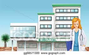 hospital building clipart. Modren Hospital A Doctor In Front Of The Hospital Building In Hospital Building Clipart