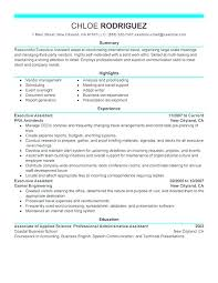 Example Of Resumes For Administrative Assistants Senior Executive Assistant Resume Examples Ethercard Co