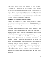 the role of library in educational development 10 and