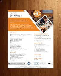 Handout Designs Brochure Capabilities Statement Doc 1 Page Handout 12