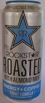 Rockstar Roasted Coffee Energy Light Vanilla Caffeine King Rockstar Roasted With Almond Milk Light