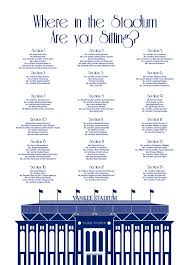 Yankee Stadium Seating Chart Nyc Digital Design Printable Pdf Custom Personal Poster Print File Only Where In The Stadium Sitting