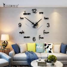 simple fashion silent acrylic clock