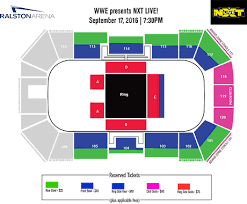 Nxt Seating Chart Wwe Presents Nxt Live Event Ralston Arena