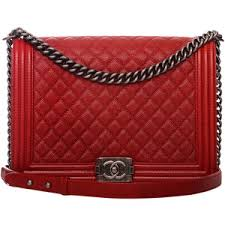 Pre-Owned Chanel Dark Red Quilted Caviar Large Boy Bag - Polyvore & Pre-Owned Chanel Dark Red Quilted Caviar Large Boy Bag Adamdwight.com
