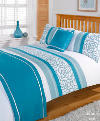 Duvet Quilt Bedding Bed In A Bag Teal Single Double King Kingsize ... & Duvet Quilt Bedding Bed In A Bag Teal Single Double King Kingsize Super King Adamdwight.com