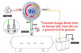 digital air pressure gauge wiring diagram