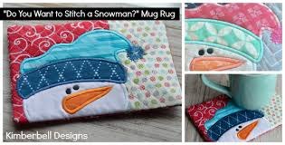 mug rugs make a perfect gift paired with hot cocoa mix or coffee cup or embroider a set so the whole family has one to use after a day of snow play