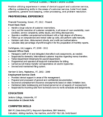 Unemployment Resume Sample Clerical Resume Sample Provides Your Chronological Order Of Clerical 14