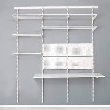top track wall mounted shelving white