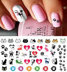I Love My Cat Paw Prints Nail Decals – Moon Sugar Decals
