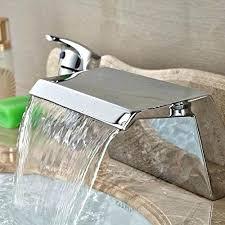 deck mounted chrome brass square waterfall bathroom tub faucet sprayer bathtub with handheld spray hand tub faucet with sprayer