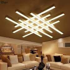 modern geometric metal dimmable led
