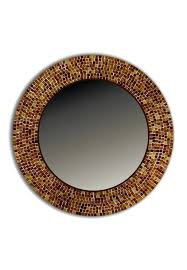 s contemporary look mosaic mirror brown decorative wall mirrors traditional