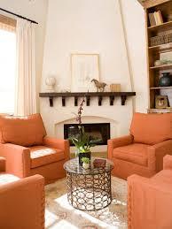 Orange Living Room Chairs Fresh Fall Design Trends Hgtv