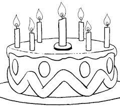 Coloring Pages Of Cakes And Cupcakes Birthday Cake Preschool