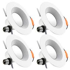 retrofit led recessed lighting luminwiz 5 6 inch dimmable led downlight 14w 100w equivalent energy star ul listed 3000k soft white led ceiling light 4