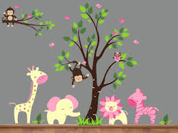 jungle wall decal also jungle cute wall decals jungle wall decals uk rba