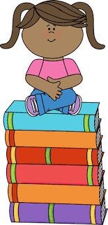 sitting on books