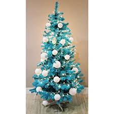 Amazon.com: Homegear 6FT Artificial Turquoise Xmas / Christmas Tree: Home &  Kitchen
