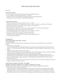 Resume Skills Example Resumes Samples List Examples No Experience