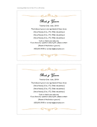 Wedding Information Card Template Wedding Accommodations Template