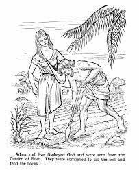 Small Picture Adam working in the Garden of Eden Coloring page Ask your