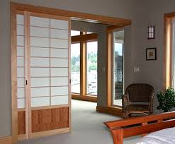 Contemporary Wooden Style Japanese Sliding Door Design Ideas