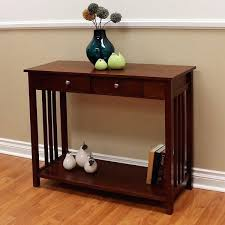 mission style sofa table wood accent with drawer mission style sofa table