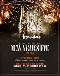 New Year Menu Come Celebrate New Years Eve In Summerlin At Hearthstone