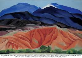 georgia okeeffe black mesa landscape paintings georgia o keeffe desert paintings