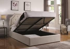 lift storage bed. Brilliant Storage Hermosa Beige Full Upholstered Bed With Hydraulic Lift Storage Inside N