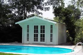 Making furniture  pool sheds    shedding the undesirable elements from the places we use most often Inspiration for a modern rectangular pool in Atlanta   a pool house