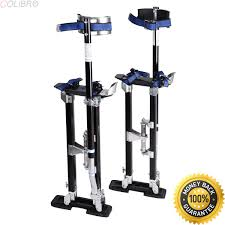 get quotations colibrox 18 30 inch drywall stilts aluminum tool painters walking taping finishing black