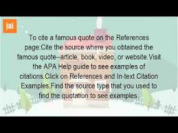 How To Cite A Quote From A Person Interesting How Do You Cite A Quote From A Person YouTube