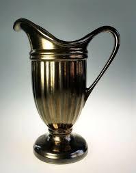 Haeger Potteries Mirror Bronze 10 In Pitcher Urn Art Pottery Ceramic 1990 Ebay