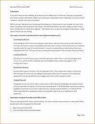 Reverse Chronological Resume Template Word Resume Online Builder