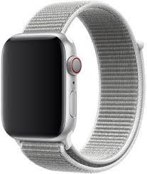 <b>Ремешок Apple Sport Nylon</b> Band для Watch 44 мм (белая ракушка)