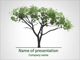 Tree Powerpoint Template Water Colors Tree Powerpoint Template Backgrounds Google Slides