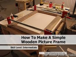simple wood picture frames. Clamping-wood-picture-frame Simple Wood Picture Frames
